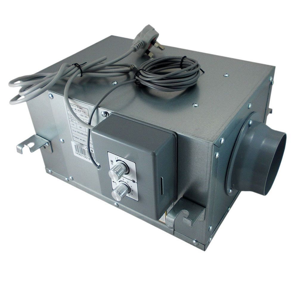 Inline Air Conditioner : Acoustic inline duct fan with temperature control all sizes